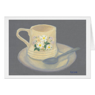 Cup and Saucer - Greeting Card