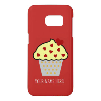 Cup Cake and Hearts Samsung Galaxy S7 Case