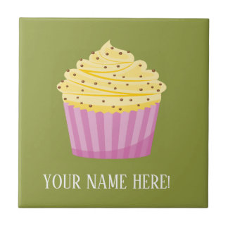 Cup Cake and Hearts Tile