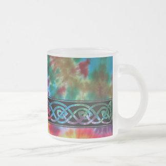 Cup, Celtic knot, batik Design Frosted Glass Coffee Mug