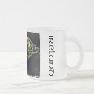 Cup, Celtic knot, Ireland, multicolored Frosted Glass Coffee Mug