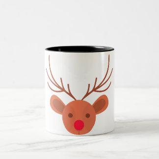 Cup coffee or tea Christmas reindeer