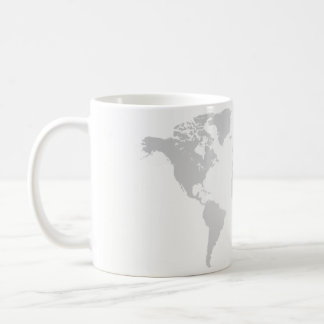 Cup - globe, world map