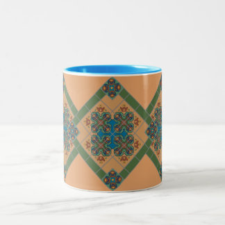 Cup in the tile sample