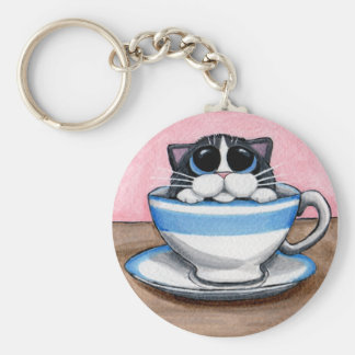 Cup O Kitty Keychain