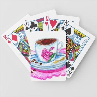 Cup of Coffee Art Bicycle Playing Cards