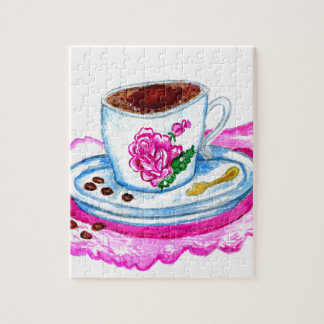 Cup of Coffee Art Jigsaw Puzzle