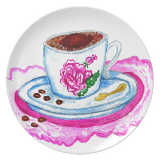 Cup of Coffee Art Plate