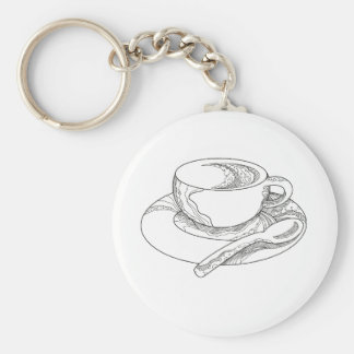 Cup of Coffee Doodle Keychain