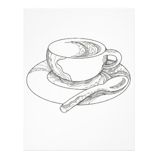 Cup of Coffee Doodle Letterhead