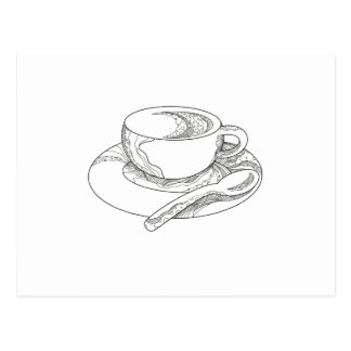 Cup of Coffee Doodle Postcard
