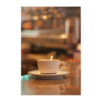 Cup Of Coffee In A Café Acrylic Print