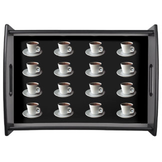 cup of coffee serving tray