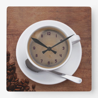 Cup of Coffee - Square Wall Clock