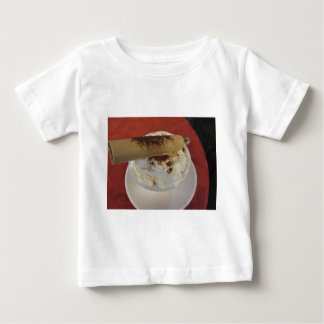 Cup of hot chocolate with whipped cream topping baby T-Shirt