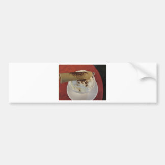 Cup of hot chocolate with whipped cream topping bumper sticker