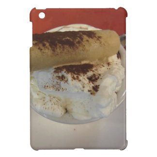 Cup of hot chocolate with whipped cream topping iPad mini cover