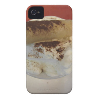 Cup of hot chocolate with whipped cream topping iPhone 4 cover