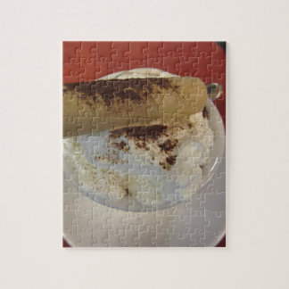 Cup of hot chocolate with whipped cream topping jigsaw puzzle