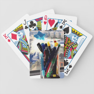 Cup of Pens Bicycle Playing Cards
