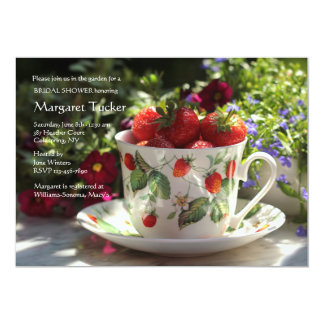 Cup of Strawberries Invitation