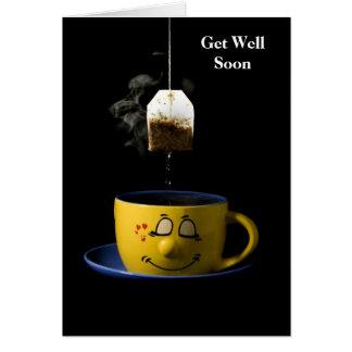 Cup of Tea Get Well Soon Card
