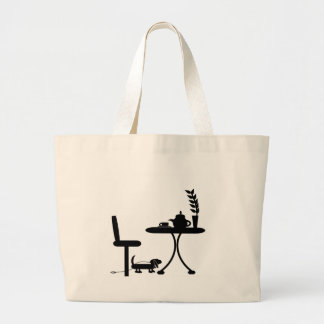 Cup of Tea Large Tote Bag