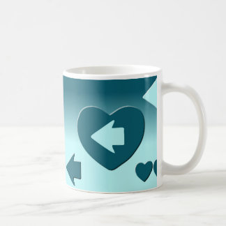 Cup that follows shoots with an arrow of your blue