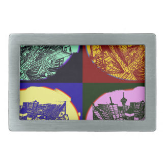 cup - town center 3 POINT perspective pop kind Belt Buckles