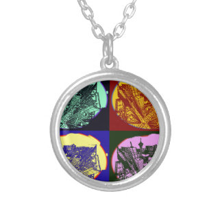 cup - town center 3 POINT perspective pop kind Silver Plated Necklace