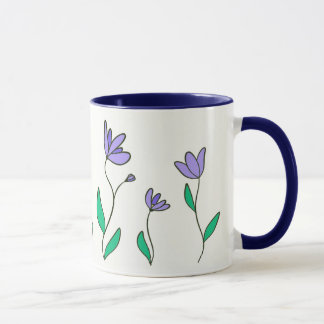 Cup with flowers lilacs