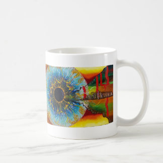 Cup with great handle for cold hot drinks and classic white coffee mug
