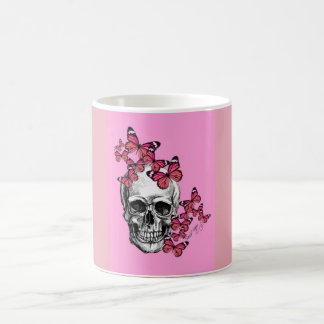 Cup with skull and butterflies