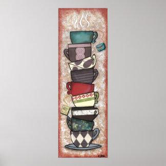 Cupapalooza - Coffee Mugs, Tea Cups - Original Art Poster
