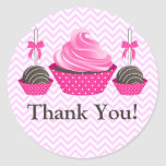 Cupcake and Cake Pops Bakery Thank You Stickers