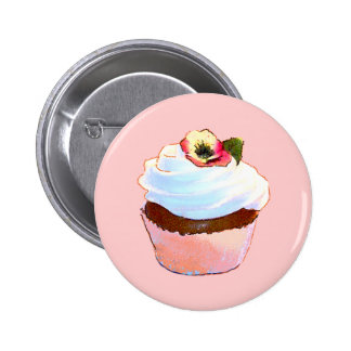 Cupcake and Chair Vintage Style Buttons