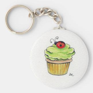 Cupcake and Ladybug Keychain