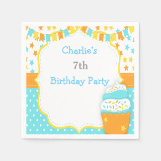 Cupcake and Sprinkles Birthday Party Napkin