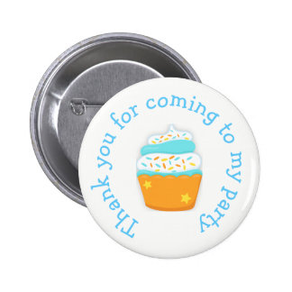 Cupcake and Sprinkles 'thank you for coming' 2 Inch Round Button
