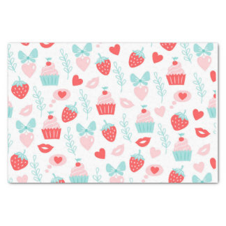 Cupcake and Strawberry Valentine's Day Tissue Paper