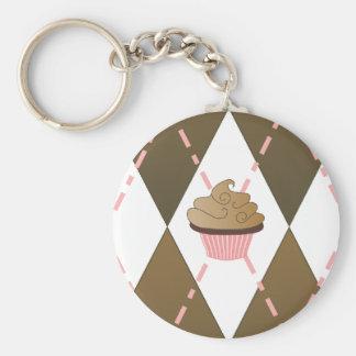 Cupcake Argyle Keychain