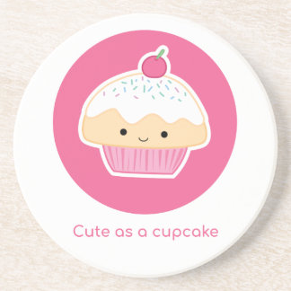Cupcake, As cute as a cupcake Coaster