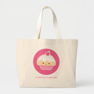 Cupcake, As cute as a cupcake Large Tote Bag