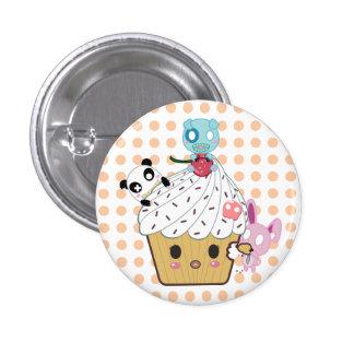 Cupcake Attack! (>_<) 1 Inch Round Button