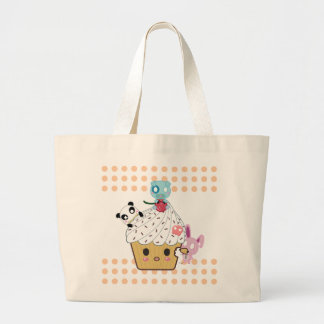 Cupcake Attack! (>_<) Large Tote Bag