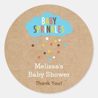 Cupcake Baby Sprinkle Baby Shower Sticker