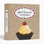 Cupcake Bakery 1 Inch Binder
