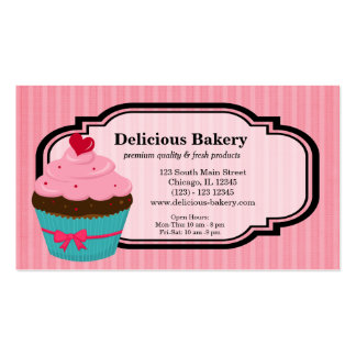 Cupcake Bakery Pack Of Standard Business Cards