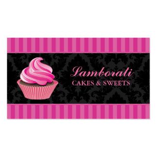 Cupcake Bakery Elegant Damask Floral Pattern Pack Of Standard Business Cards