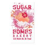 Cupcake bakery ink blot grunge splatter pink